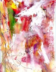 The Brilliant Dancer, 2011, mixed media